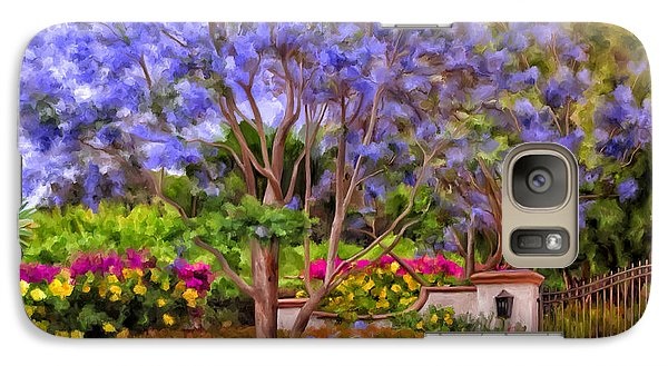 Galaxy Case featuring the painting The Jacaranda by Michael Pickett
