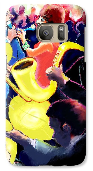 Galaxy Case featuring the digital art The Jazz Singers by Ted Azriel