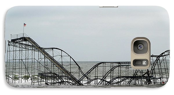 Galaxy Case featuring the photograph The Jetstar Rollercoaster In Seaside Heights Nj by Living Color Photography Lorraine Lynch