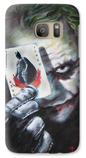 The Joker Heath Ledger  Galaxy S7 Case by Viola El