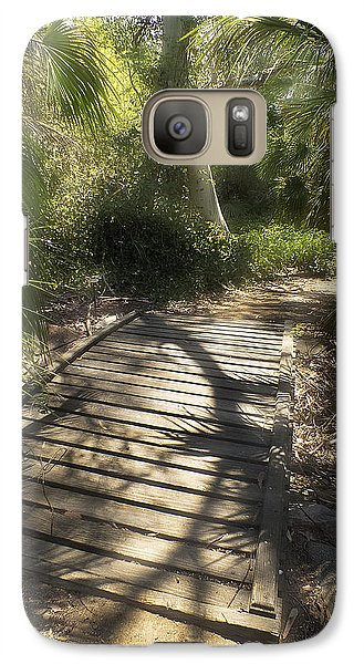 Galaxy Case featuring the photograph The Journey Along The Path Comes With Light And Shadows by Lucinda Walter