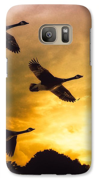 Geese Galaxy S7 Case - The Journey South by Bob Orsillo