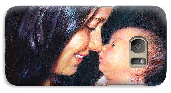 Galaxy Case featuring the drawing The Joy Of A Young Mother by Viola El