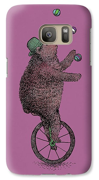 Bear Galaxy S7 Case - The Juggler by Eric Fan