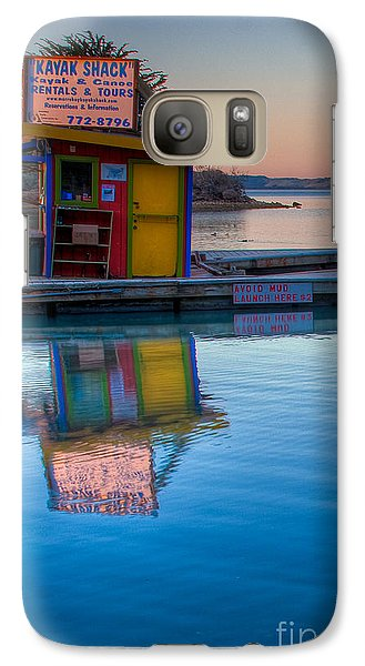 Galaxy Case featuring the photograph The Kayak Shack Morro Bay by Terry Garvin