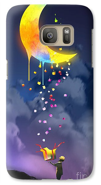 Magician Galaxy S7 Case - The Kid Opening A Fantasy Box And by Tithi Luadthong
