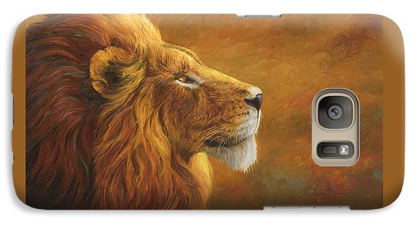 Lion Galaxy S7 Case - The King by Lucie Bilodeau