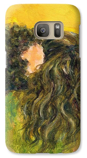 Galaxy Case featuring the painting The Kiss Of Two Curly Haired Lovers by Jingfen Hwu