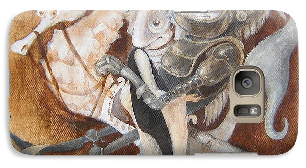 Galaxy Case featuring the painting The Knight Tale by Marina Gnetetsky