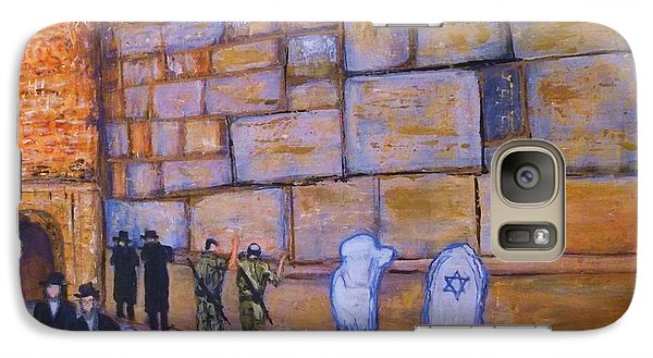 Galaxy Case featuring the painting The Kotel by Donna Dixon