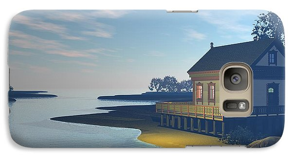 Galaxy Case featuring the photograph The Lake House by John Pangia