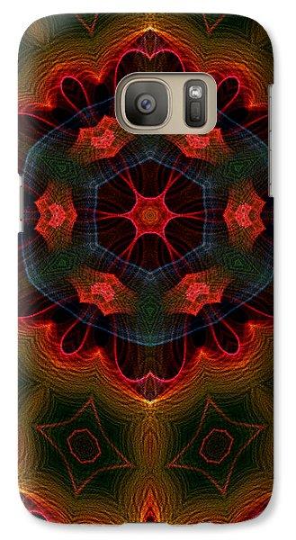 Galaxy Case featuring the digital art The Last Flower II by Owlspook