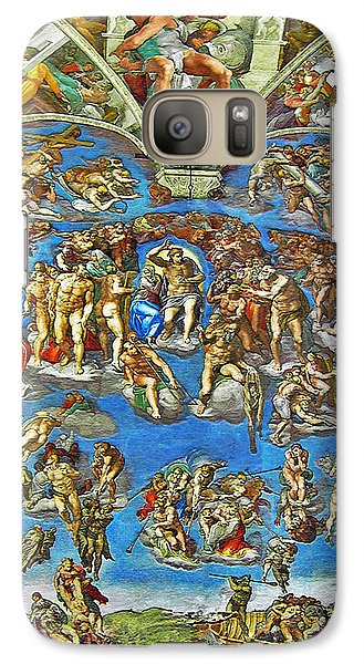 Galaxy Case featuring the digital art The Last Judgement by Michelangelo