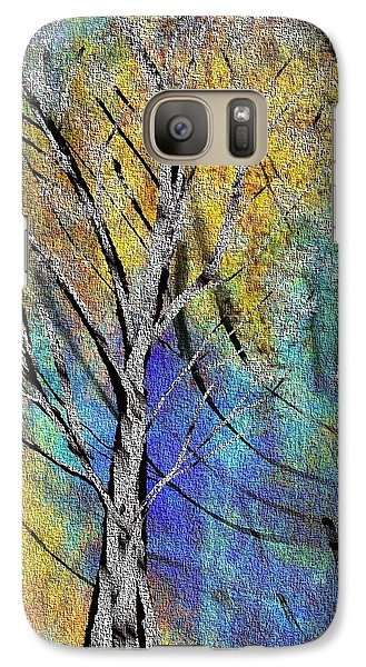 Galaxy Case featuring the painting The Last Leaf by Yul Olaivar