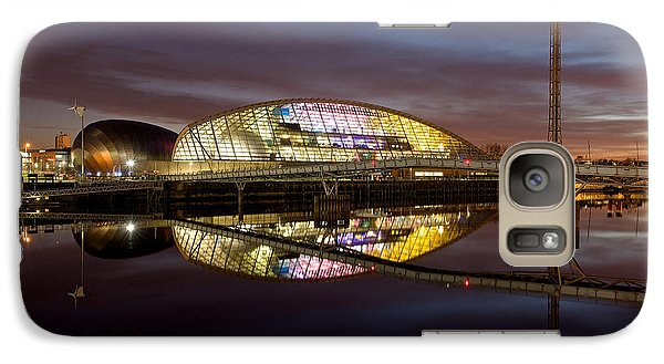 Galaxy Case featuring the photograph The Last Of The Light At The Glasgow Science Centre by Stephen Taylor