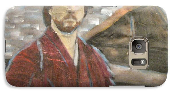 Galaxy Case featuring the painting The Last Samurai by Vikram Singh