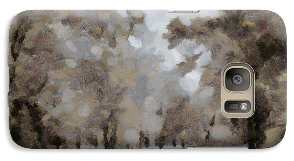 Galaxy Case featuring the digital art The Last Snow by Carrie OBrien Sibley