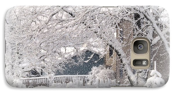 Galaxy Case featuring the photograph The Last Snow Storm by Kay Novy