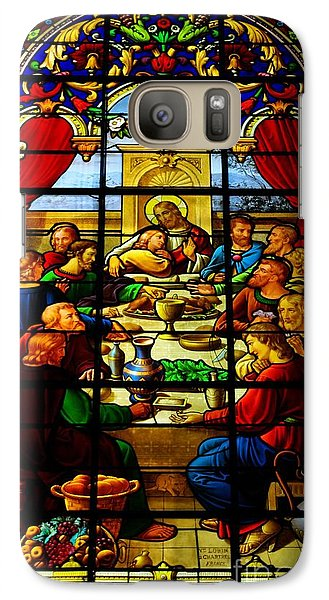 Galaxy Case featuring the photograph The Last Supper In Stained Glass by John S