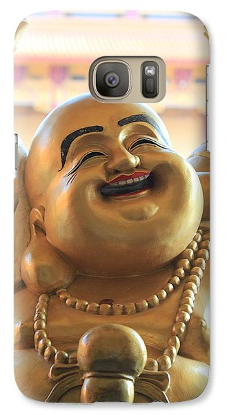 Galaxy Case featuring the photograph The Laughing Buddha by Amy Gallagher