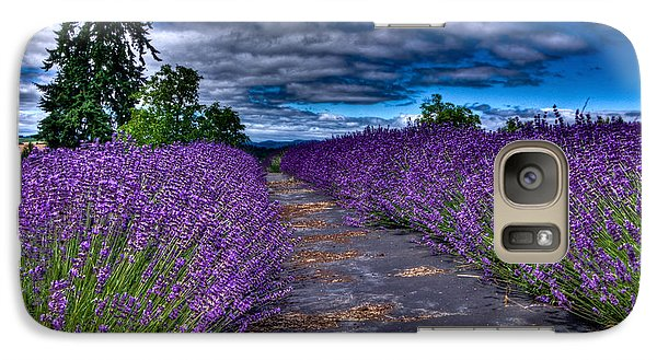 Galaxy Case featuring the photograph The Lavender Field by Thom Zehrfeld