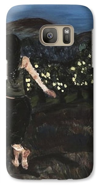 Galaxy Case featuring the painting The Lemon Tree Field by Helena Bebirian