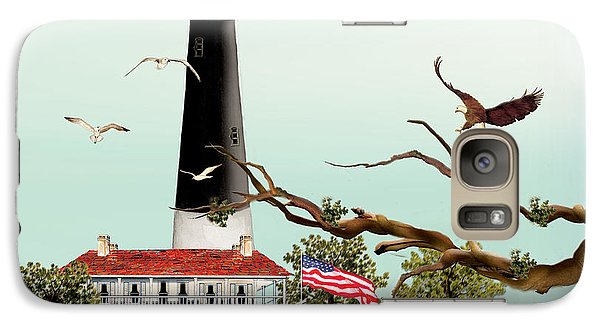 Galaxy Case featuring the painting The Light House At Pensacola by Anne Beverley-Stamps