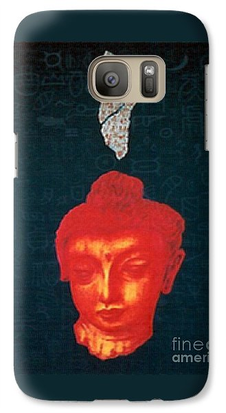 Galaxy Case featuring the painting The Light Of Face_ Sold by Fei A