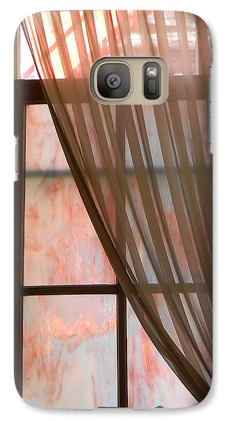 Galaxy Case featuring the photograph The Light Through The Window by Jean Goodwin Brooks
