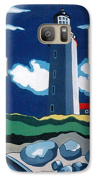 Galaxy Case featuring the painting The Lighthhouse by Joyce Gebauer