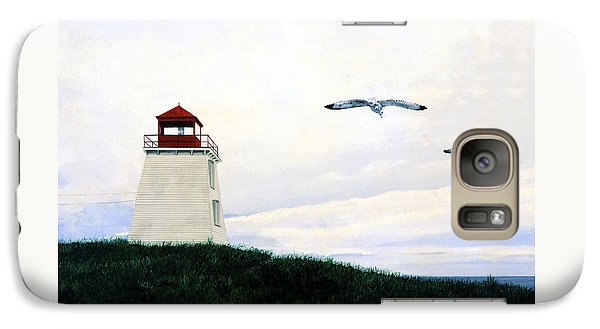 Galaxy Case featuring the painting The Lighthouse by Ron Haist