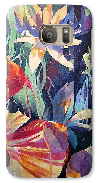 Galaxy Case featuring the painting The Lily Weeps For Jan by Rae Andrews