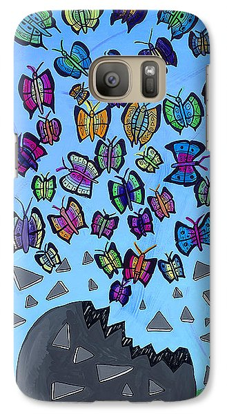 Galaxy Case featuring the painting The Limit Breakers by Artists With Autism Inc