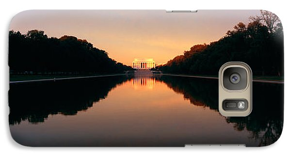The Lincoln Memorial At Sunset Galaxy Case by Panoramic Images