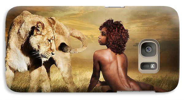 Galaxy Case featuring the photograph The Lion Girl by Brian Tarr