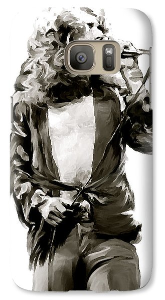The Lion  Robert Plant Galaxy S7 Case by Iconic Images Art Gallery David Pucciarelli