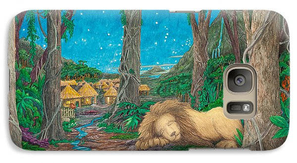 Galaxy Case featuring the painting The Lion Sleeps Tonight ... by Matt Konar