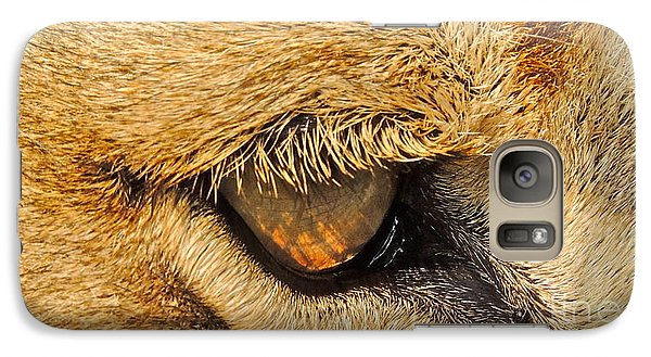 Galaxy Case featuring the photograph The Lion's Eye by Eve Spring
