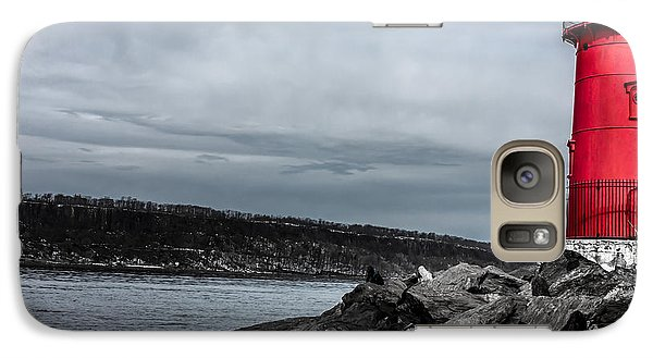 Galaxy Case featuring the photograph The Little Red Lighthouse by Rafael Quirindongo