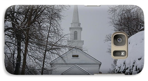 Galaxy Case featuring the photograph The Little White Church by Dora Sofia Caputo Photographic Art and Design