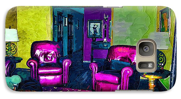 Galaxy Case featuring the painting The Living Room by Tyler Robbins