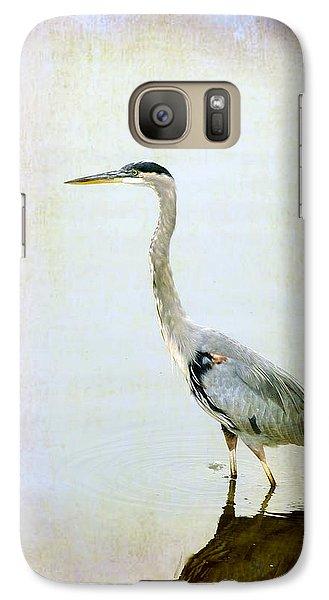 Galaxy Case featuring the digital art The Lone Crane by Davina Washington