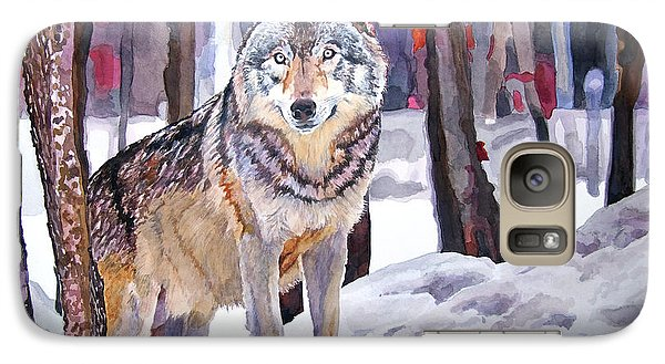Wolves Galaxy S7 Case - The Lone Wolf by David Lloyd Glover