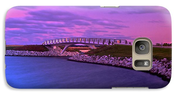 Galaxy Case featuring the photograph The Lonely Bridge by Jonah  Anderson