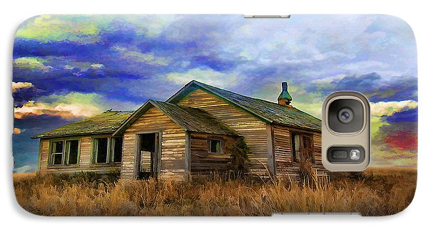 Galaxy Case featuring the painting The Lonely House by Tyler Robbins