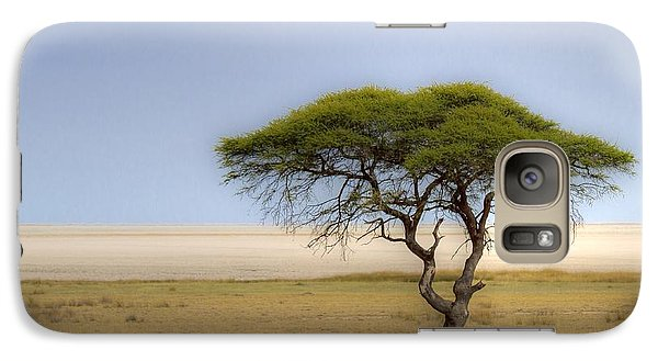 Galaxy Case featuring the photograph The Lonely Tree by Juergen Klust