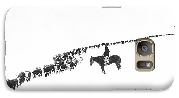 Rural Scenes Galaxy S7 Case - The Long Long Line by Underwood Archives  Charles Belden