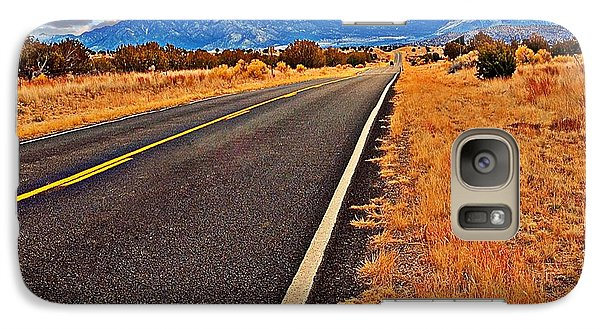 Galaxy Case featuring the photograph The Long Long Road by Bob Pardue