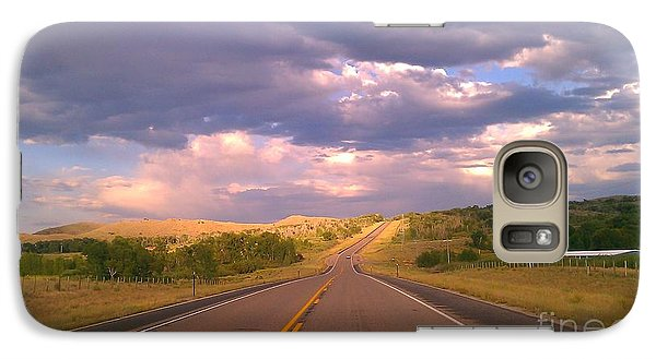 Galaxy Case featuring the photograph The Long Road Home by Chris Tarpening