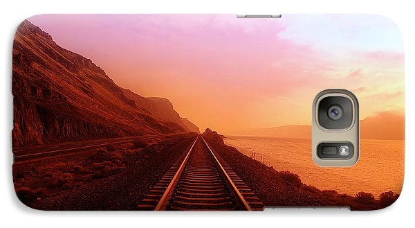 Train Galaxy S7 Case - The Long Walk To No Where  by Jeff Swan